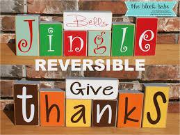 idea reversible give thanks jingle bells block set home