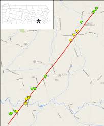Amish Pennsylvania Map by Ef2 Tornado Near White Horse Pa On February 24 2016