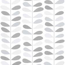 jasmine leaf grey silver glitter wallpaper 6999
