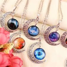 necklace pendants wholesale images Wholesale vintage moon necklace starry moon outer space universe jpg