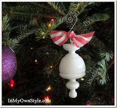 tree ornament made from a curtain rod finial in my own