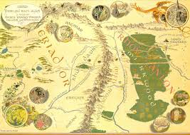 map hobbit detailed map middle earth hobbit from the lonely mountain