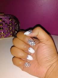 rhinestone nails using the kiss complete salon acrylic kit youtube