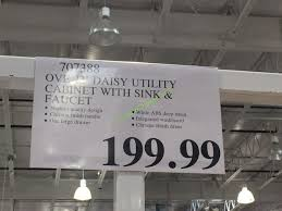 Costco Sink Faucet Ove 22 U0027 Daisy Utility Cabinet With Sink U0026 Faucet U2013 Costcochaser