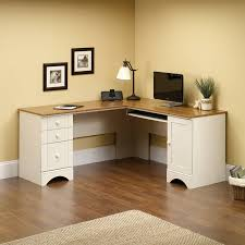 Sauder Harbor View Corner Computer Desk In Antiqued Paint Amazing Architectural Design Corner Table
