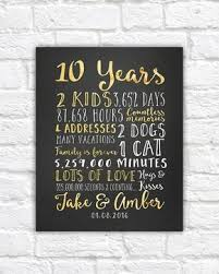 traditional 10th anniversary gift wedding anniversary gifts for him paper canvas 10 year