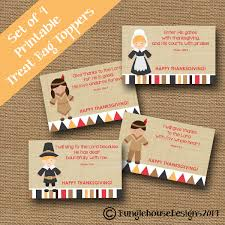 thanksgiving treat bag toppers for pilgrims and indians