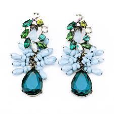 blue earrings aqua lush drops blue statement earrings by shamelessly