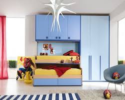 modern boys bedroom ideas desk connected storage book shelves