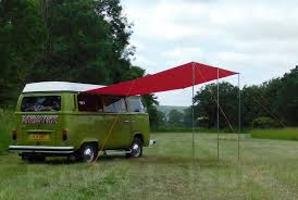 Vw Awning Vw T2 T25 Campervan Sun Canopy Awning Chianti Red