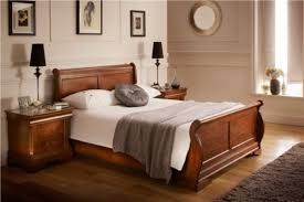 bedroom double sleigh bed beds solid wood king bed cheap white