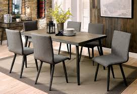 furniture of america cm3360t gray finish metal frame dining table