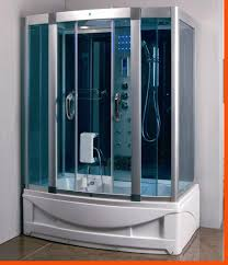 designs amazing steam shower room with bath enclosure