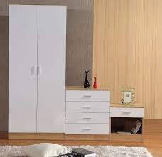 White High Gloss Bedroom Furniture by Gladini White Oak High Gloss 3 Piece Bedroom Furniture Set