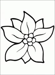 simple flower coloring pages plants easy pictures basic mintreet