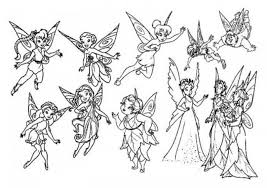pictures of tinkerbell and friends kids coloring