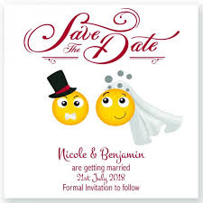 save the date cards emoji save the date card paper themes wedding invites