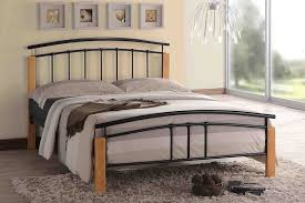 Beech Bed Frame Time Living Black And Beech Tetras Bed Frame From Mattressnextday