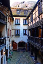 homes with interior courtyards traditional alsatian wooden buildings