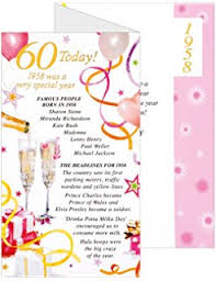 birthday card for 60 year woman simon elvin 2018 60th birthday card 1958 was a special year