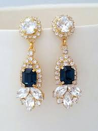 bridal chandelier earrings chandelier earrings for wedding bridal chandelier blue