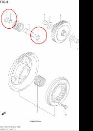 z400 stator and flywheel bolt replacement suzuki z400