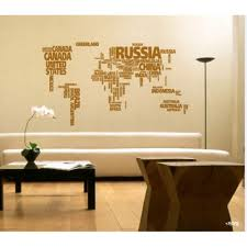 World Map Wall Decal Large World Map Wall Decal Sticker