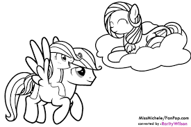 my little pony friendship is magic coloring pages