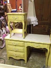 painted french provincial desk