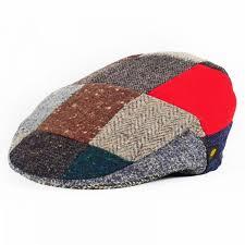 Patchwork Cap - patch cap donegal tweed patchwork cap hatman of ireland