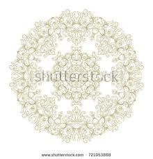 ornamental rosette snowflake on white background stock vector