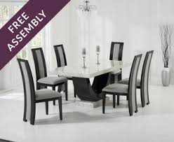 marble dining table sets the great furniture trading company