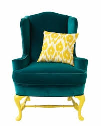 Yellow Velvet Armchair Green Velvet Chair Foter