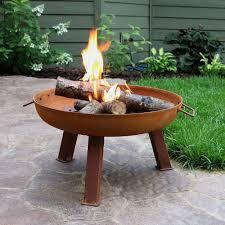 Firepit Bowls Sunnydaze Rustic Wood Burning Cast Iron Pit Bowl