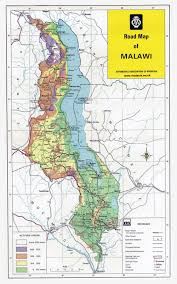 africa map malawi large detailed road map of malawi with other marks malawi