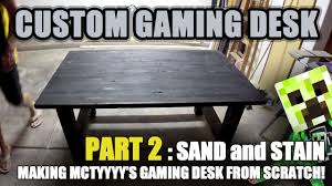 Custom Gaming Desk by Building Mctyyyy U0027s Gaming Desk Traditional Build Part 2 Youtube
