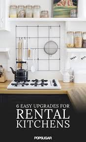rental kitchen ideas rental kitchen upgrades popsugar home