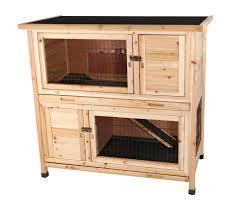 Rabbit Hutch With Run For Sale Amazon Com 2 Story Rabbit Hutch M Pet Habitats Garden