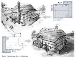 tavern plans medieval u0026 fantasy inn plans pinterest medieval
