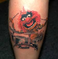 Drummer Tattoo Ideas Muppets Animal W O Drum Kit On Left Side Of Left Calf Small