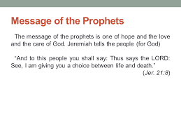 Prophecy Is For Edification Exhortation And Comfort Prophets And Prophecy Ppt Video Online Download