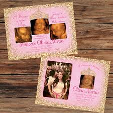 pink and gold baby shower invitations pink gold princess baby shower invitations