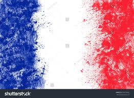 Frwnch Flag French Flag Created Splash Colors Blue Stock Photo 339370082