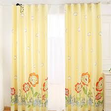 Yellow Curtains Nursery Quality Yellow Sunflower Blackout Nursery Curtains