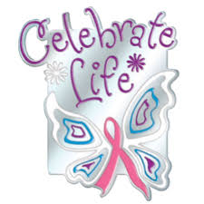 celebrate butterfly ribbon breast cancer awareness lapel pin