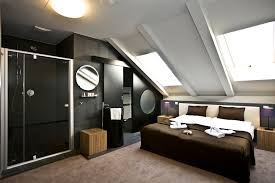 attic designs bedroom enchanting modern attic idea with king sized bed also
