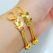 earrings hong kong aliexpress buy classical top trendy 24k gold plated carved