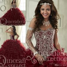 quinceanera dresses maroon quinceanera dresses 2017 sweep tiered cascading