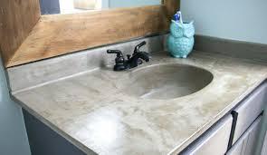 concrete countertops bathroom vanity featuring barrel sink