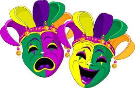 madi gras masks mardi gras comedy and stock vector colourbox